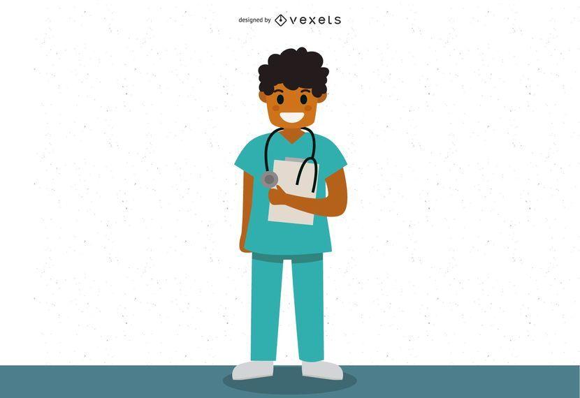 Male Medic Character Vector Design