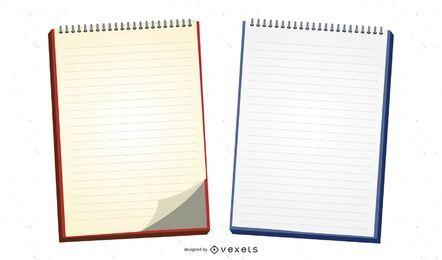 Conjunto de vetores de bloco de notas