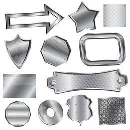 Vektor Metall Abzeichen