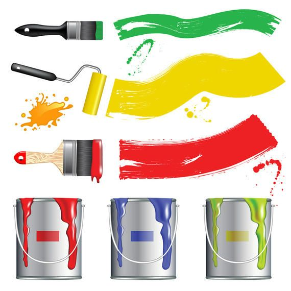 Vector Paint Brush set