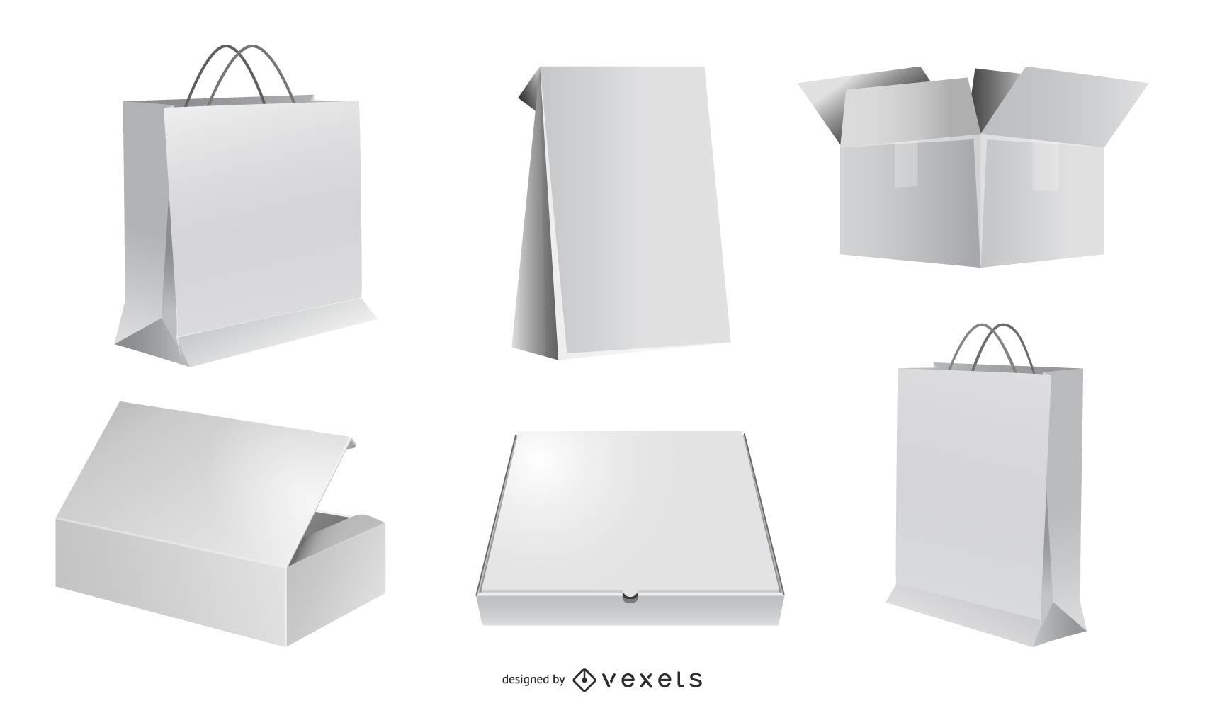 Vector Packaging blank vectors