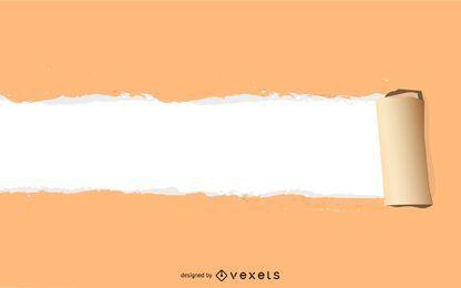 Vector rasgado de papel