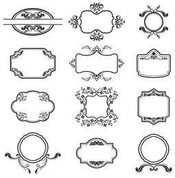 Heraldische Vektorrahmen