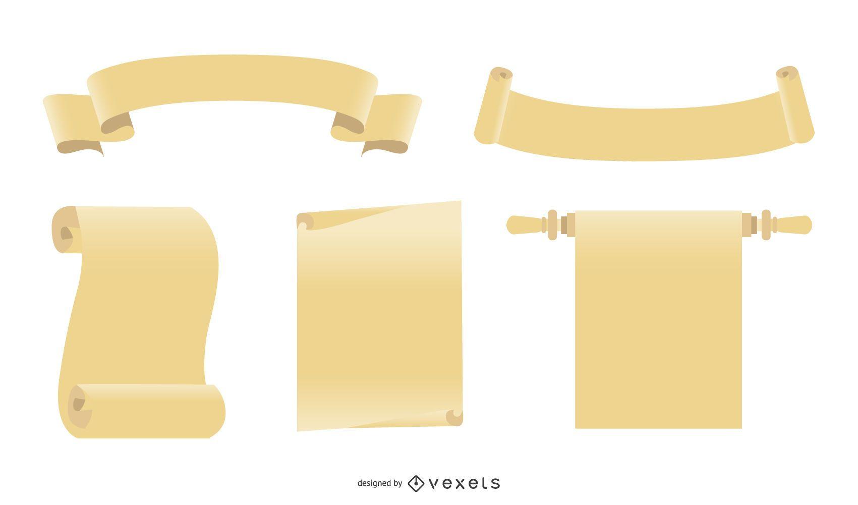Grunge Vector Scrolls