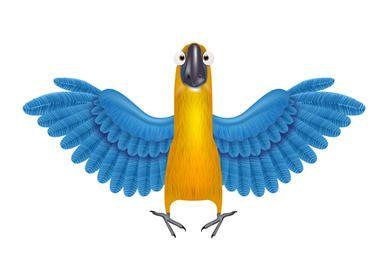 Papagaio de vetor