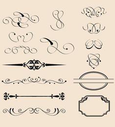Decorações caligráficas vintage