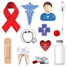 Vector conjunto médico