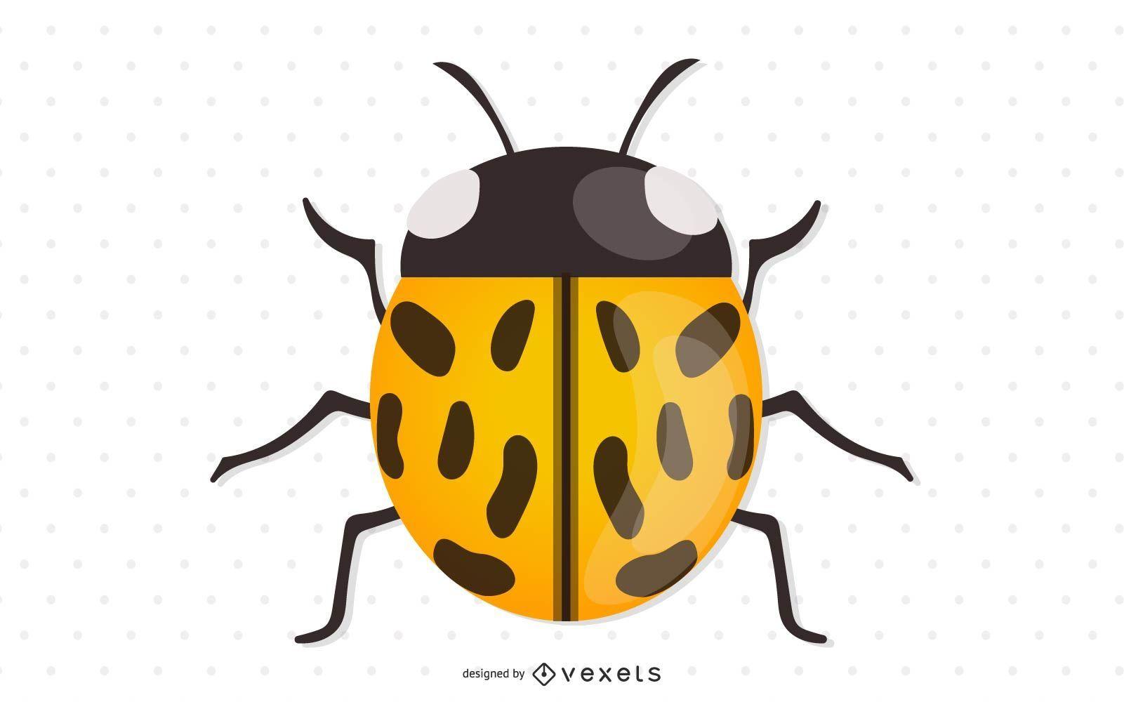 Mariquita amarilla