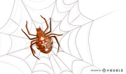 Vector insecto araña