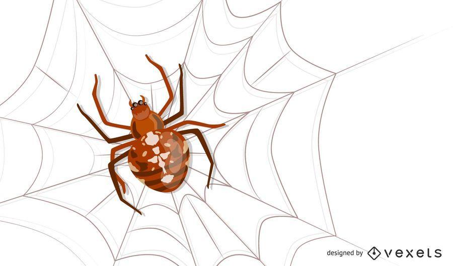 Vector cruz araña