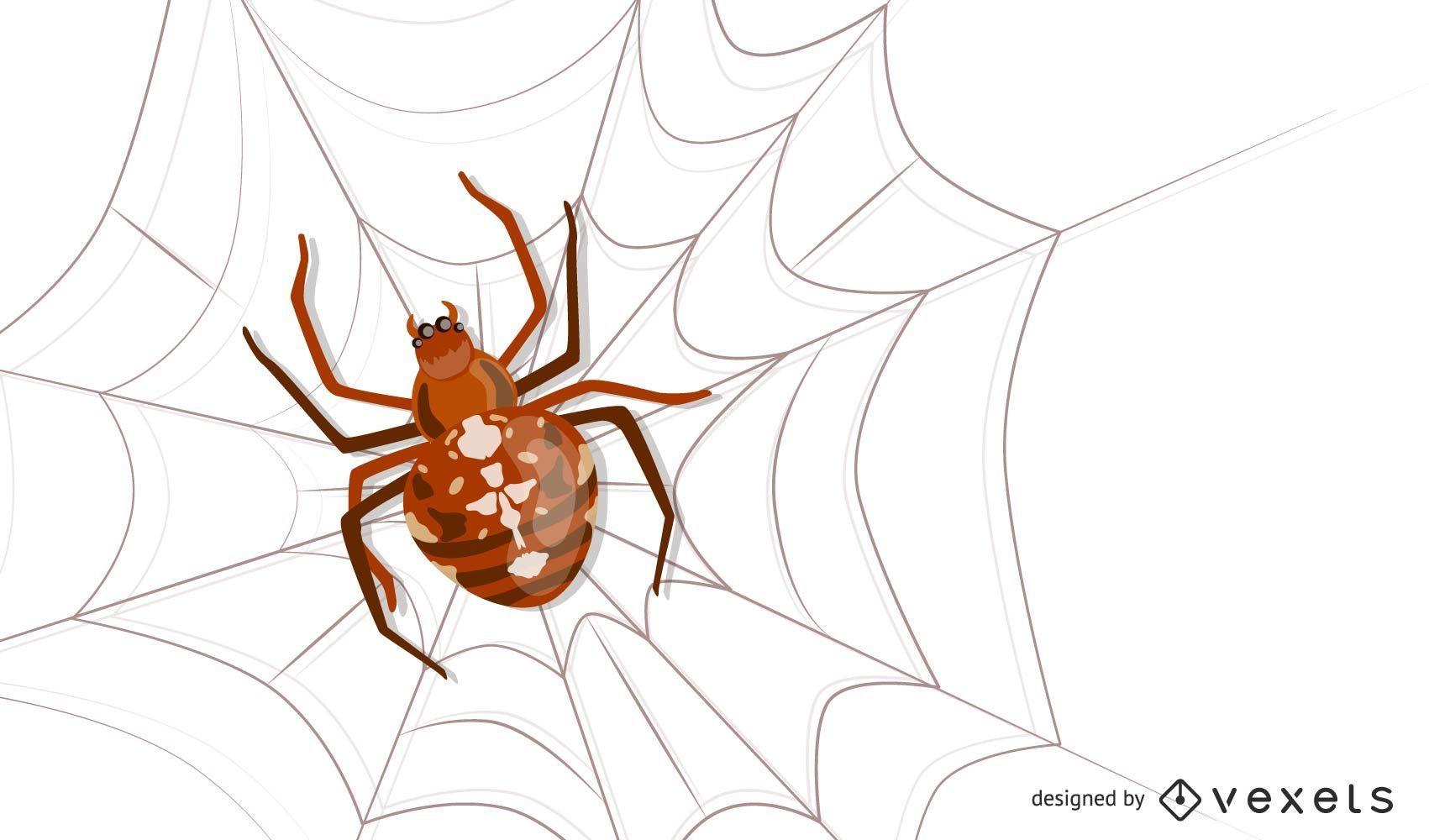 Vector inseto aranha