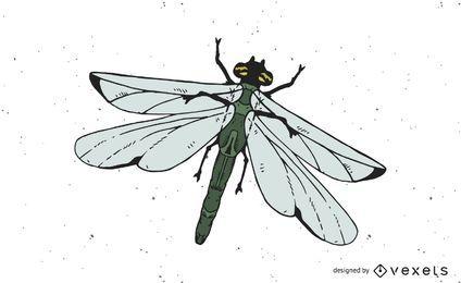 Vector de la libélula
