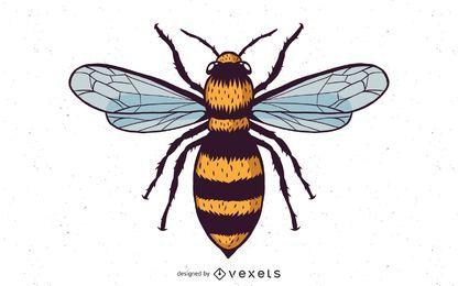 Vektor-Honigbiene