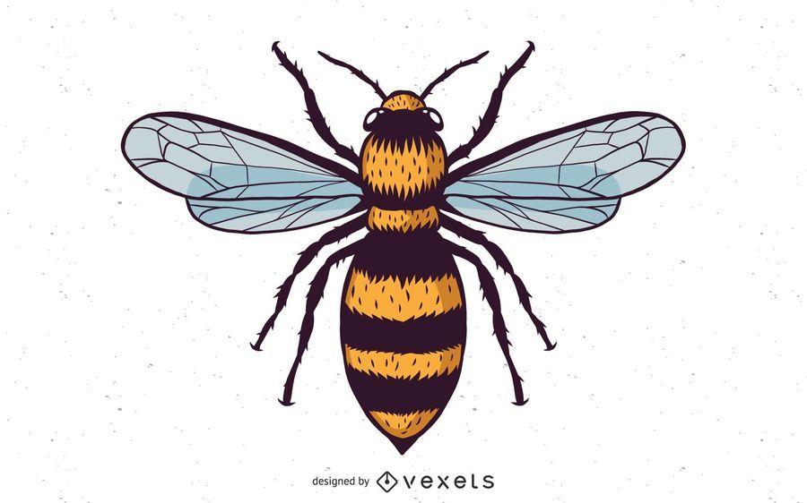 Vector Honey Bee
