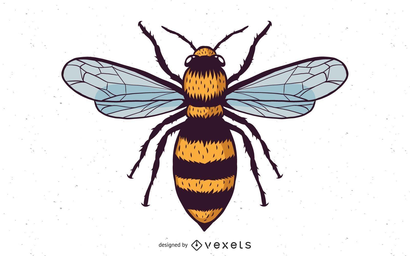 Vector miel abeja