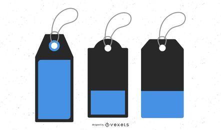 Tags de preço de vetor