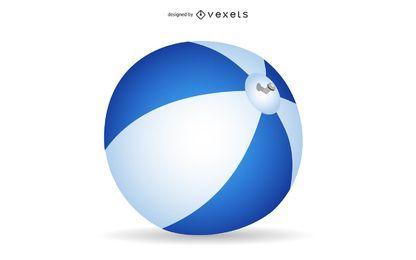 Vector pelota de playa