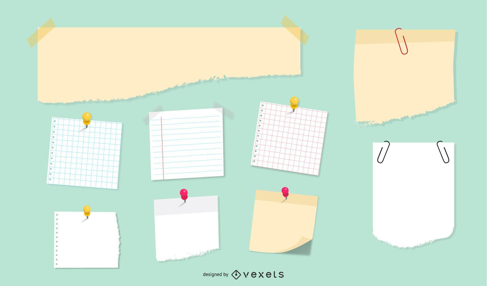 Kit de scrapbooking vetorial