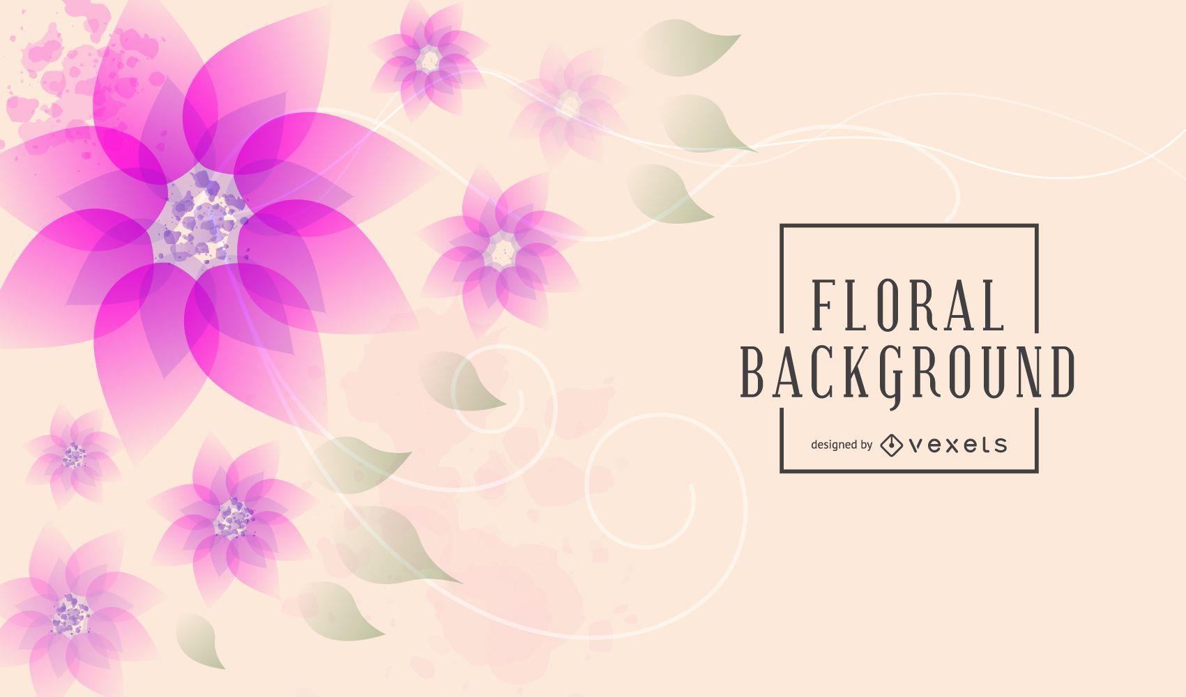 Conjunto de fondo floral artístico