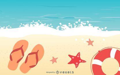 Praia de verão relaxe fundo