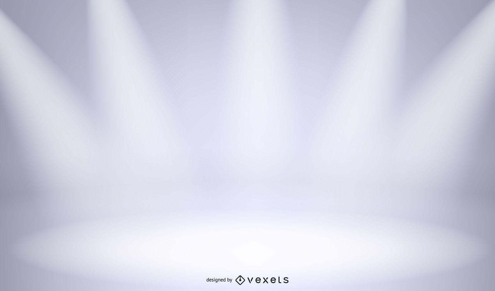 Estágios de estúdio com luzes