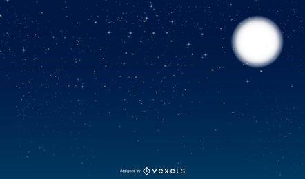Vector cielo nocturno