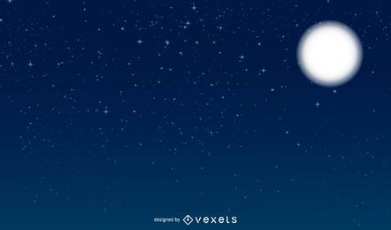 Vektor-Nachthimmel