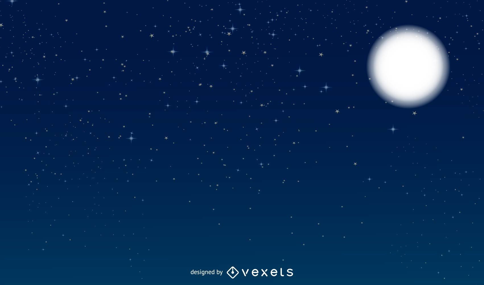 Vektor Nachthimmel