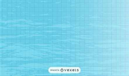 Água reflexiva da piscina