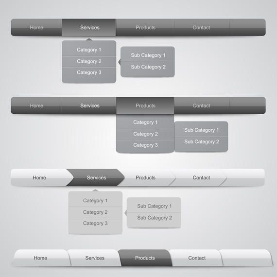 Web Navigation Menus