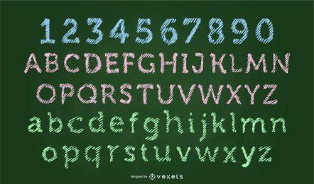 Scribble-Schrift