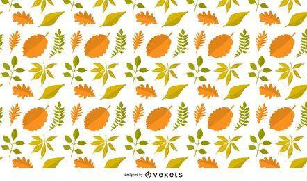 Hojas de otoño patrón de fondo