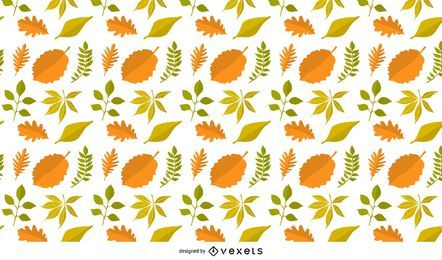 Padrão de fundo de folhas de outono