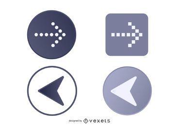 Botones de navegación de flecha