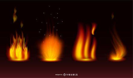 Vector Feuer