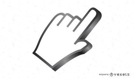 Icono de cursor de mano