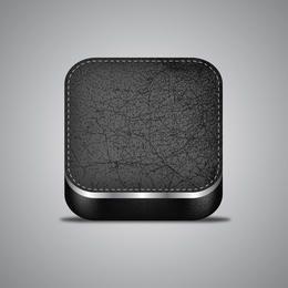 Ícone de aplicativo de couro