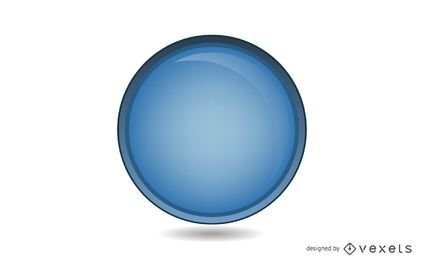 Círculo azul brilhante