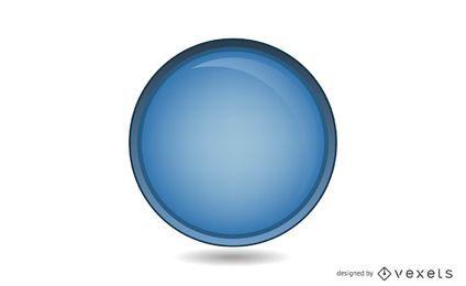 Glänzender blauer Kreis