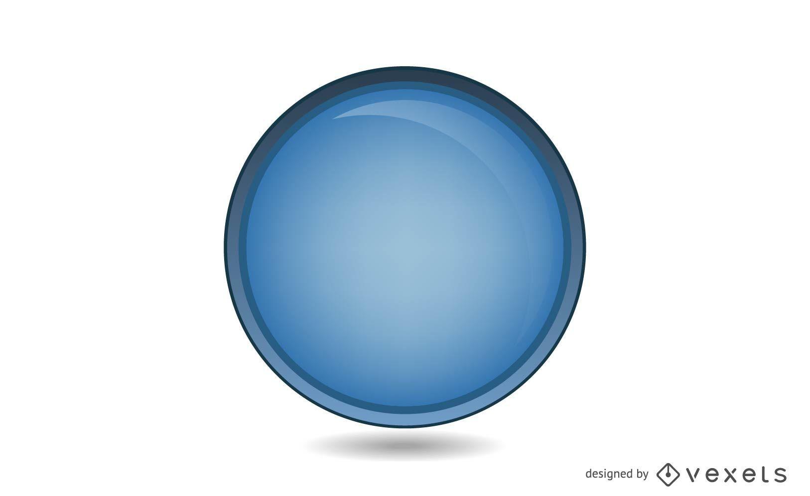 Círculo azul brillante