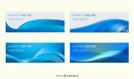 Wellenförmige Banner Hintergrund