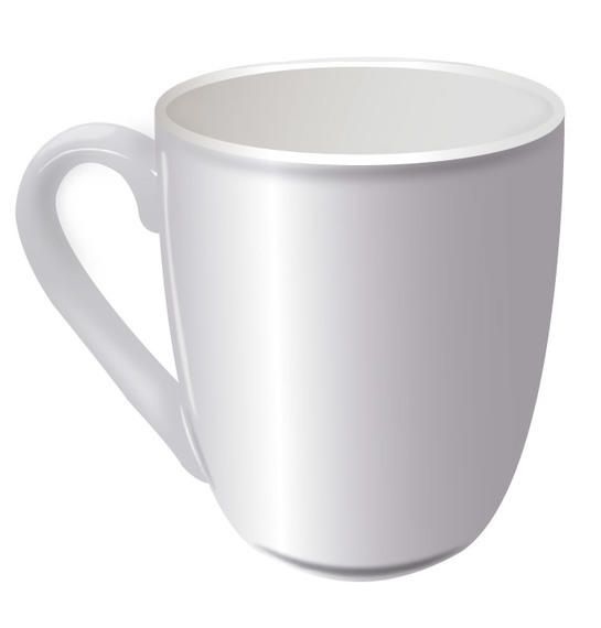 White Realistic Cup