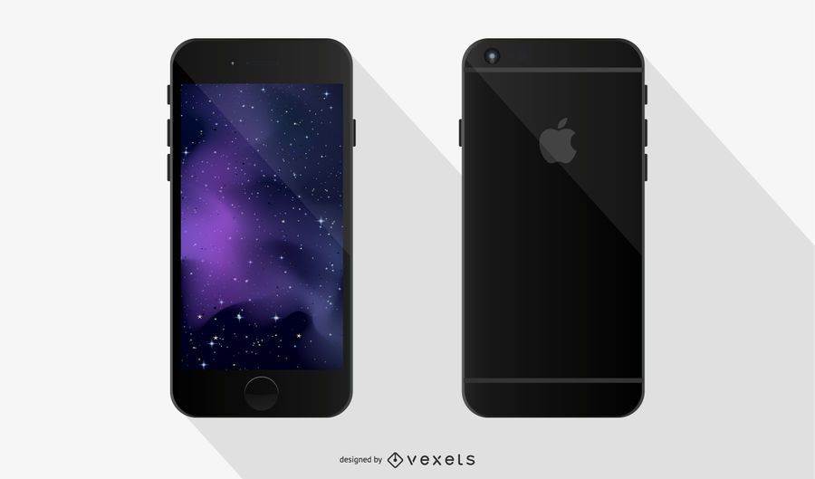 Telefone preto com tela sensível ao toque