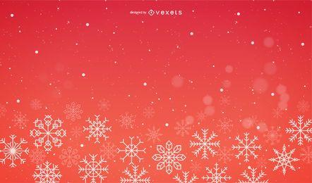 Roter Schnee-Hintergrund