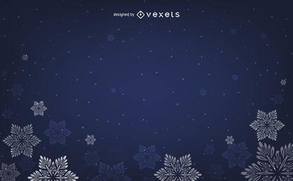 Blauer Schnee-Hintergrund