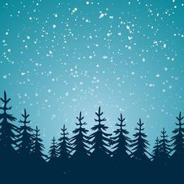Fundo do inverno com árvores
