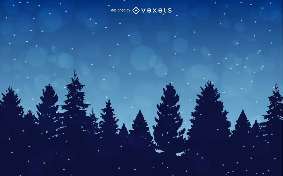 Winter Background with Trees