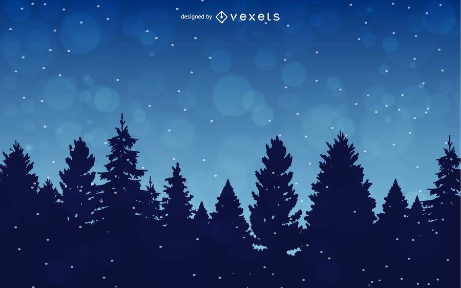 Winter Hintergrund mit Bäumen