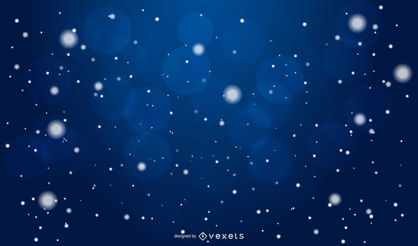 Fondo oscuro del copo de nieve