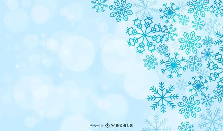 Magic snowflakes Christmas Background